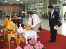 Presenting Music to the King of Thailand