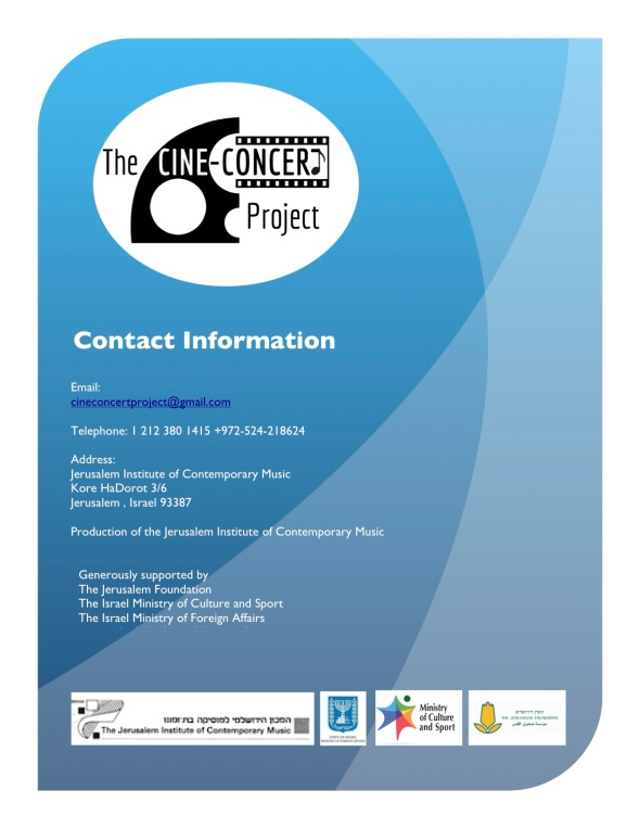 The Cine-Concert Project logo:info